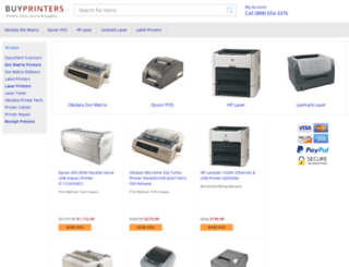 buyprinters.com screenshot