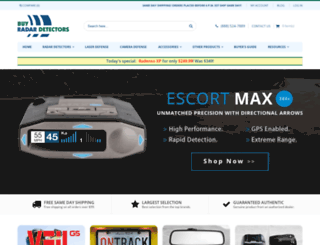 buyradardetectors.com screenshot