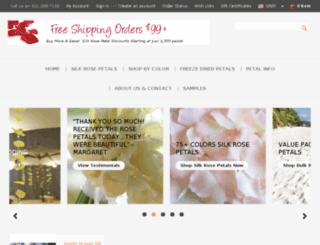 buyrosepetals.com screenshot