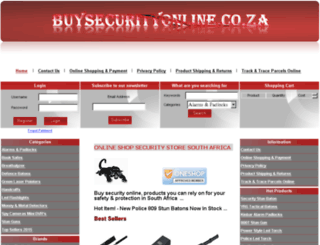 buysecurityonline.co.za screenshot