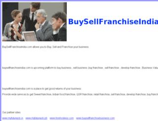 buysellfranchiseindia.com screenshot