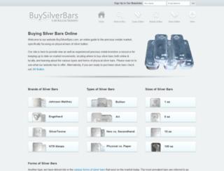 buysilverbars.com screenshot