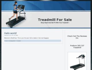 buytreadmillforsale.com screenshot