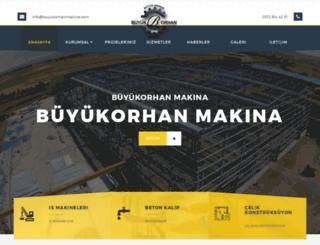 buyukorhanmakina.com screenshot