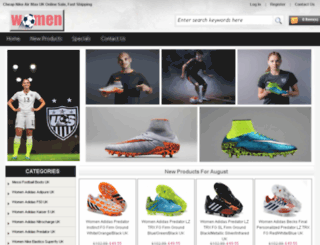 buywomenfootballboots.com screenshot