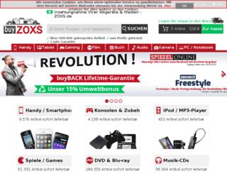 buyzoxs.de screenshot