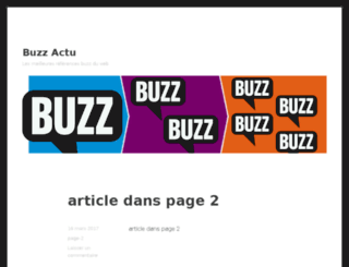 buzz-actu.fr screenshot
