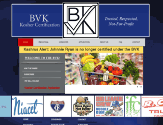 bvkkosher.com screenshot