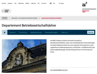 bwl.unibe.ch screenshot