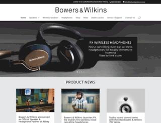 bwloudspeakers.co.za screenshot