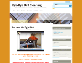 byebyedirtcleaning.wordpress.com screenshot