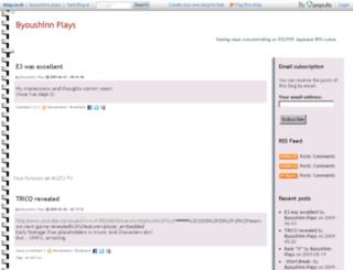 byoushinn-plays.blog.co.uk screenshot