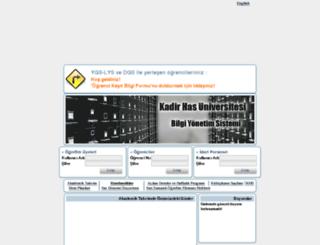 bys.khas.edu.tr screenshot