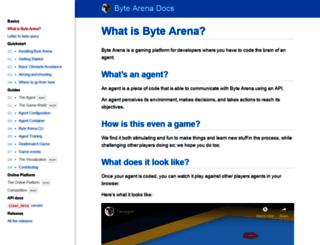 bytearena.com screenshot