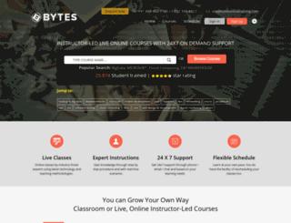 bytesonlinetraining.com screenshot