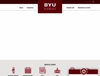byuh.edu screenshot