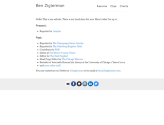 bzigterman.com screenshot