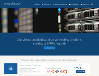 c-dedie.com screenshot