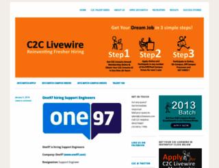c2clivewire.wordpress.com screenshot