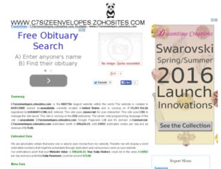c7sizeenvelopes.zohosites.com.pandastats.net screenshot
