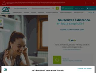 ca-aquitaine.fr screenshot