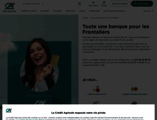 ca-frontalier.com screenshot