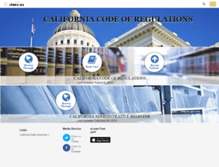 ca.eregulations.us screenshot