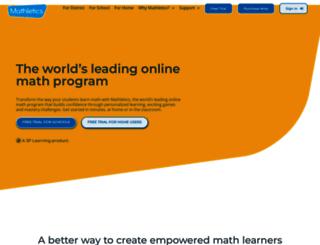 ca.mathletics.com screenshot