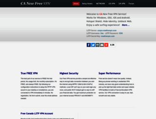 ca.newfreevpn.com screenshot