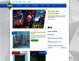 ca.thesims3.com screenshot