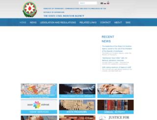 caa.gov.az screenshot