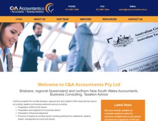 caaccountants.net.au screenshot