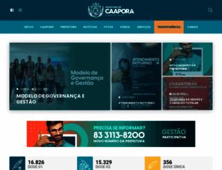 caapora.pb.gov.br screenshot