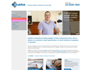 cab-tek.com.au screenshot