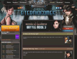 cabal.eterniagames.com screenshot