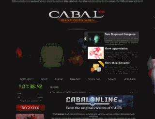 cabal.ws screenshot