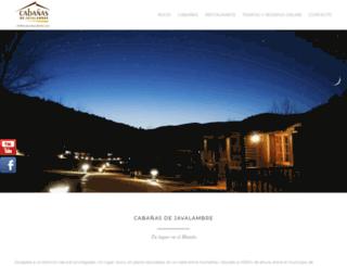 cabanasdejavalambre.com screenshot