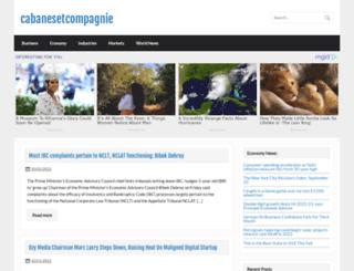 cabanesetcompagnie.com screenshot