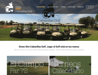 cabanillasgolf.com screenshot