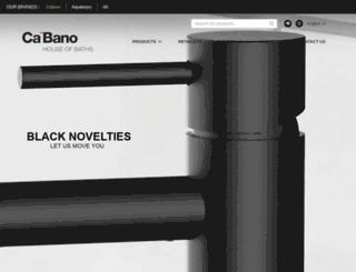 cabanobath.com screenshot