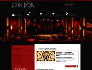 cabaretliondor.com screenshot
