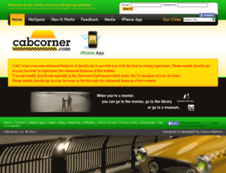 cabcorner.com screenshot