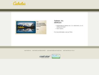 cabelas.cashstar.com screenshot