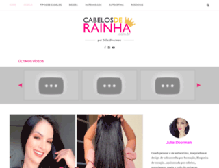 cabelosderainha.com.br screenshot