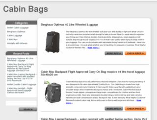 cabinbags.org.uk screenshot