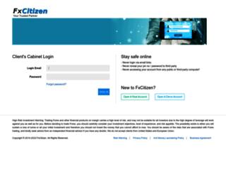 cabinet.fxcitizen.com screenshot