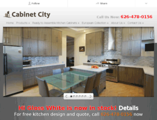 cabinetcity1.clickforward.com screenshot