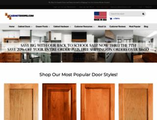 cabinetdoors.com screenshot