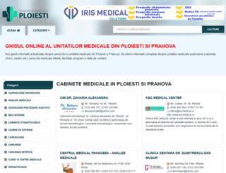 cabinetemedicaleploiesti.ro screenshot