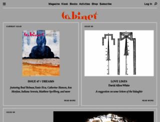 cabinetmagazine.org screenshot